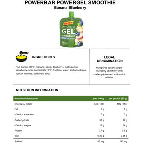 PowerBar PowerGel Smoothie Box 16x90g, Banana Blueberry